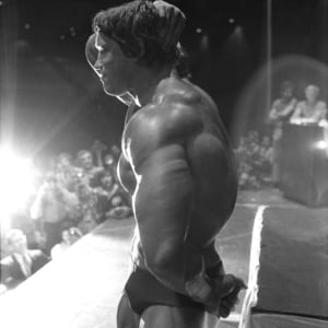 Arnold Schwarzenegger competition photo