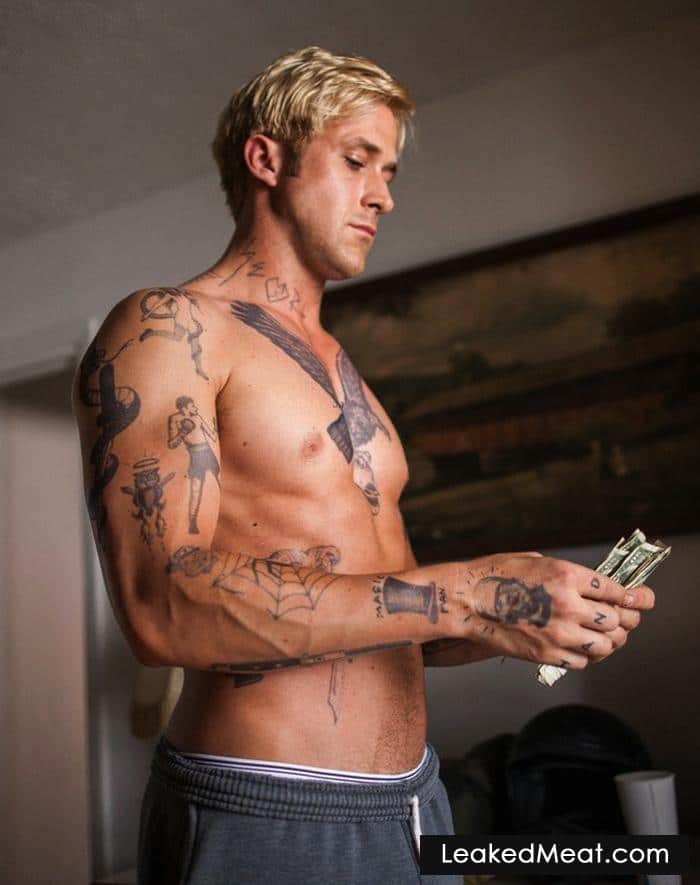 Ryan Gosling shirtless chest and abs