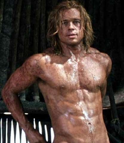 Brad Pitt sexy and shirtless