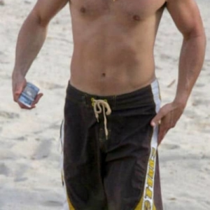 Brad Pitt beach swimsuit
