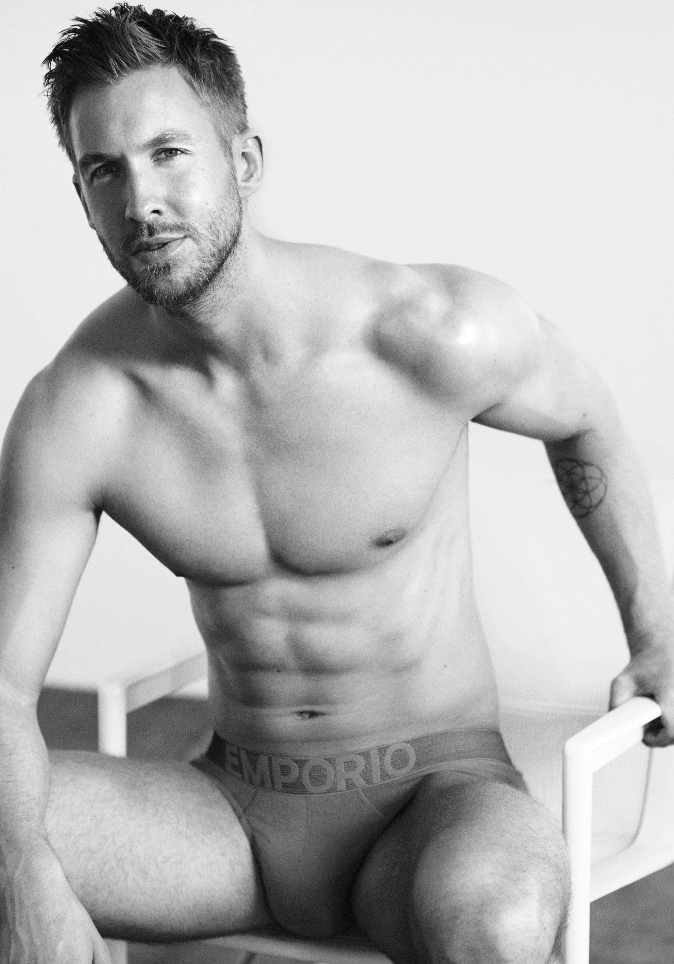 Calvin Harris uncovered images