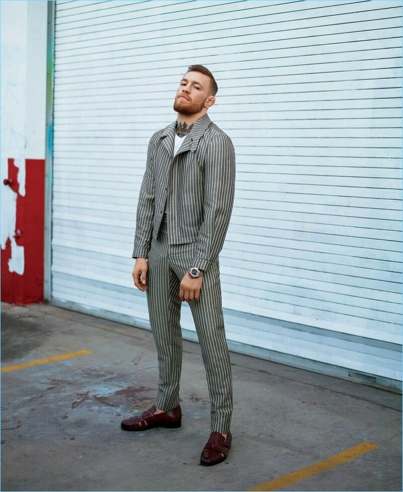 Conor McGregor pinstripe suit