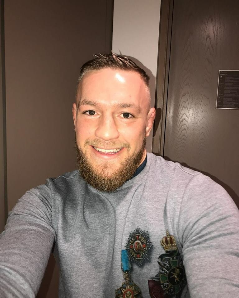 Conor McGregor clothed selfie