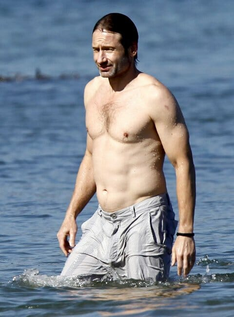 David Duchovny shirtless and sexy