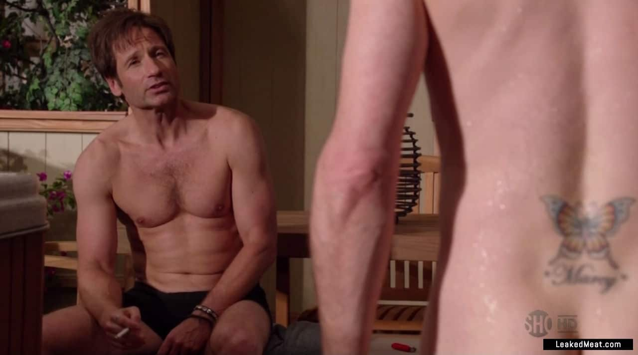 David Duchovny shirtless pic