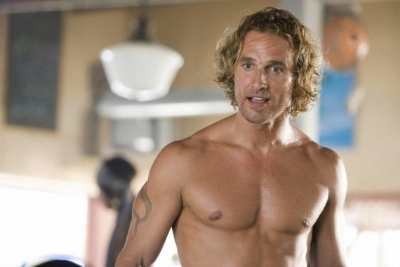 Matthew McConaughey bare chest