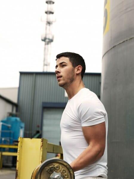 Nick Jonas huge muscles