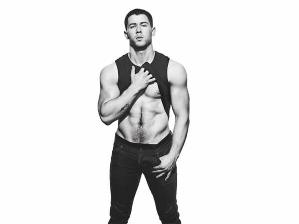 Nick Jonas sexy abs