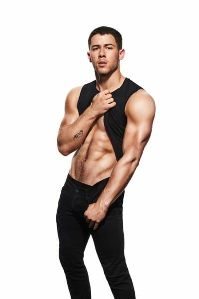 Nick Jonas stomach