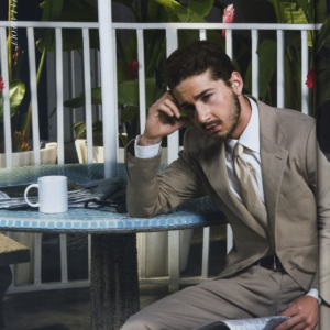 Shia LaBeouf sexy in suit and tie