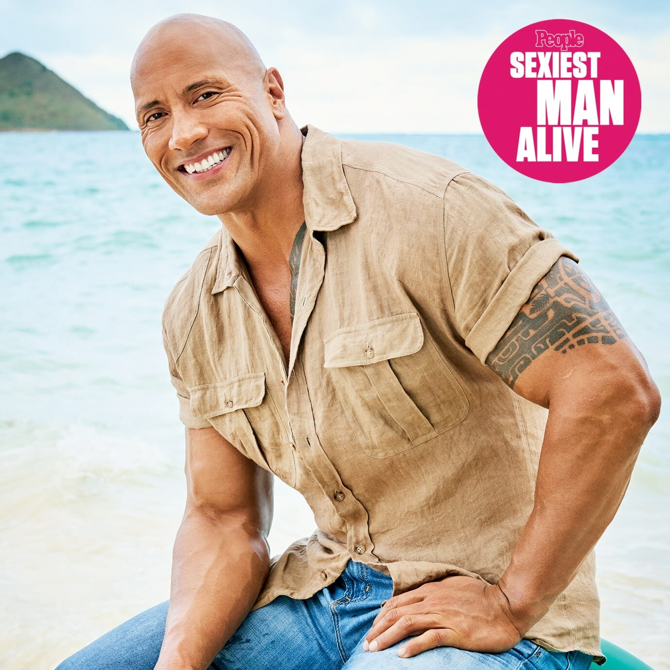 The Rock Dwayne Johnson posing