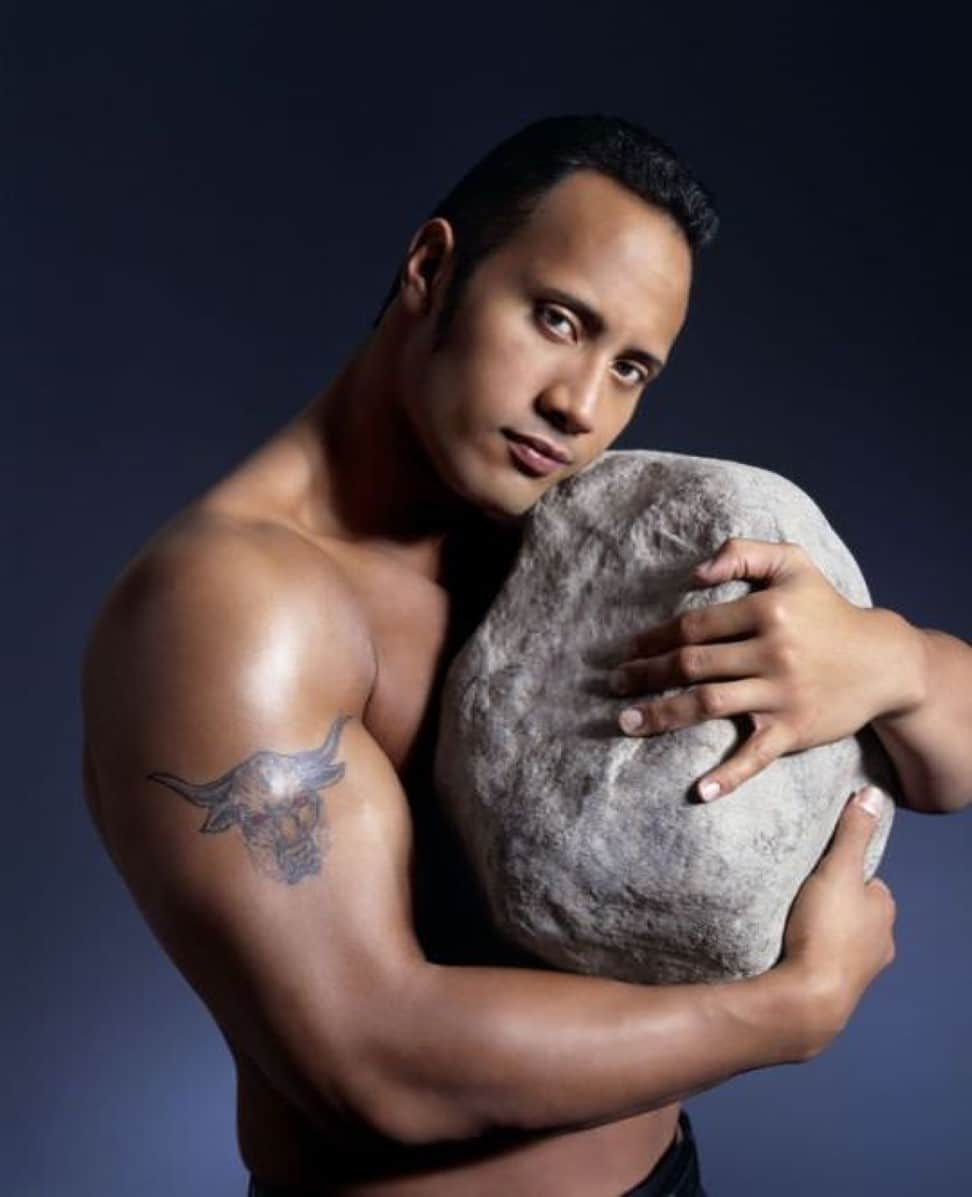 The Rock hug