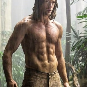 Alexander Skarsgard ripped body in Tarzan