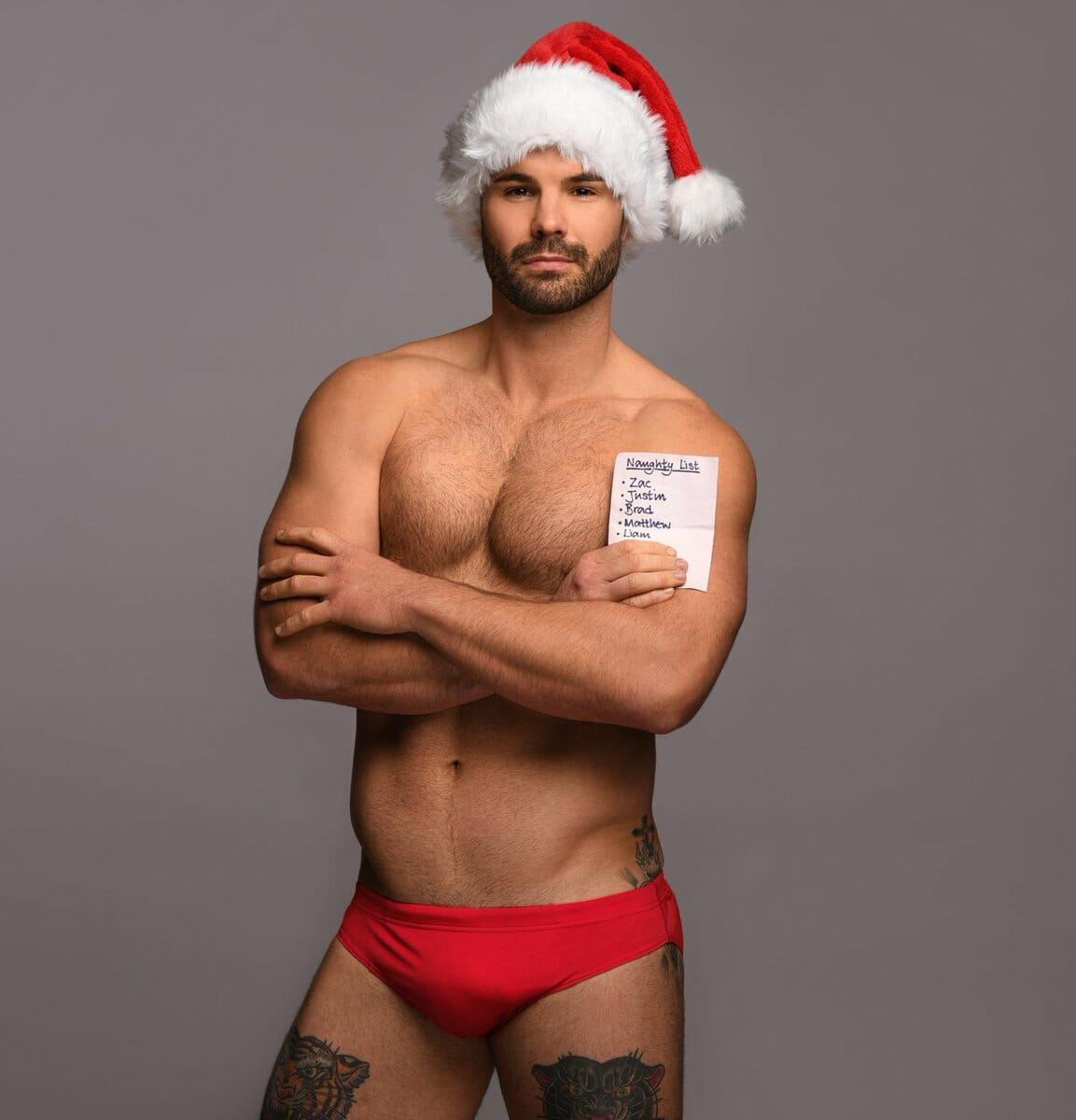 Simon Dunn sexy Christmas guy