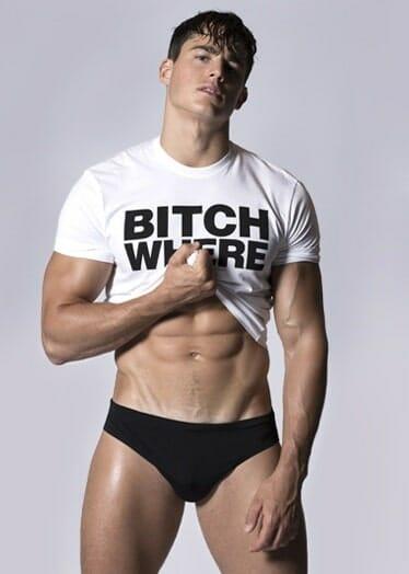 Pietro Boselli hot underwear photoshoot