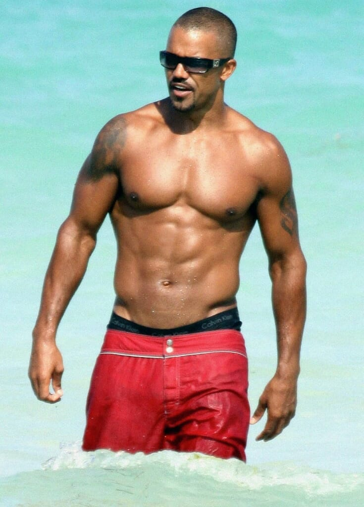 Shemar Moore ripped muscles abs