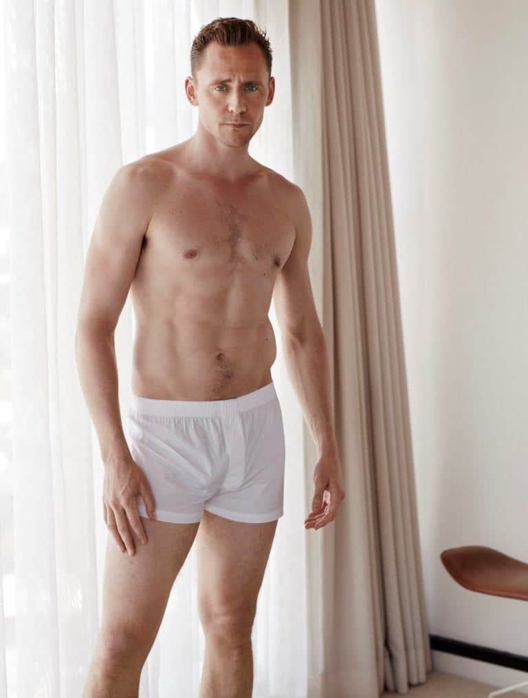 Tom Hiddleston cock in white boxers