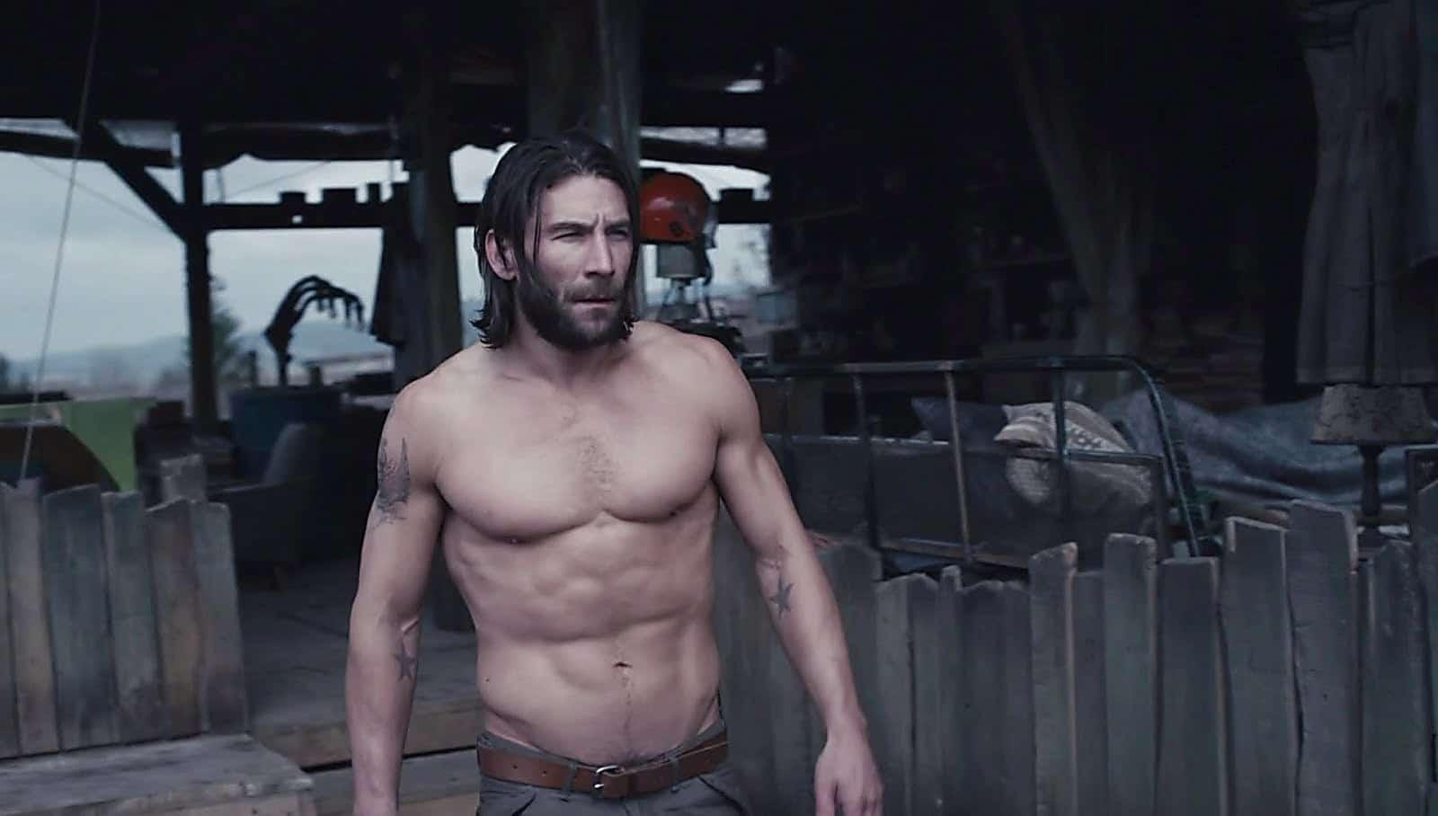Zach McGowan hot and shirtless
