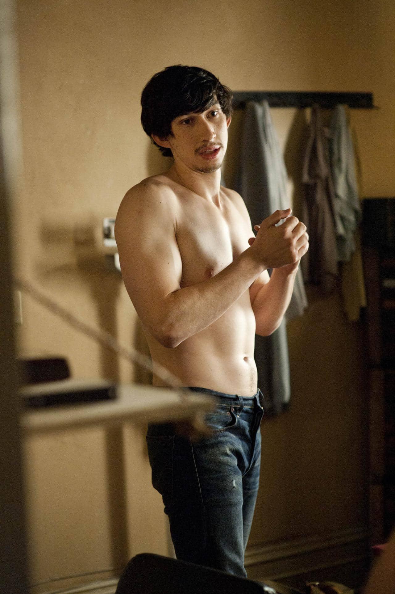 Adam Driver attractive shirtless body