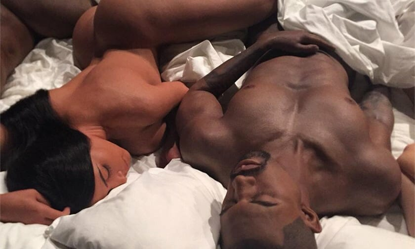 Kanye West naked body