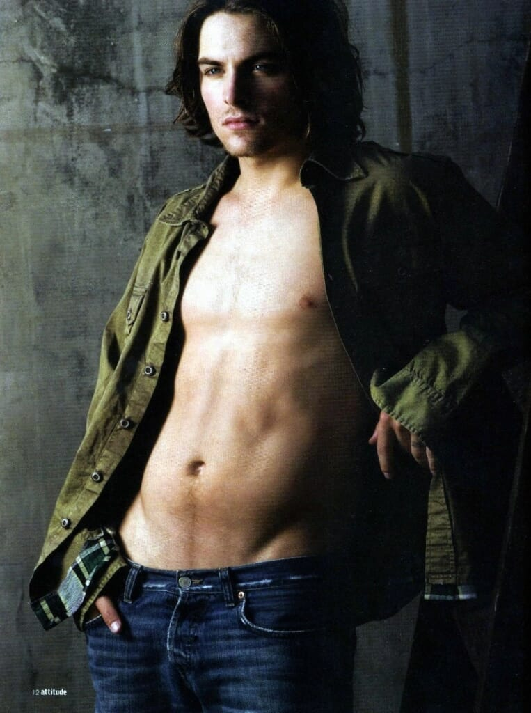 Kevin Zegers shirtless (Attitude Magazine)