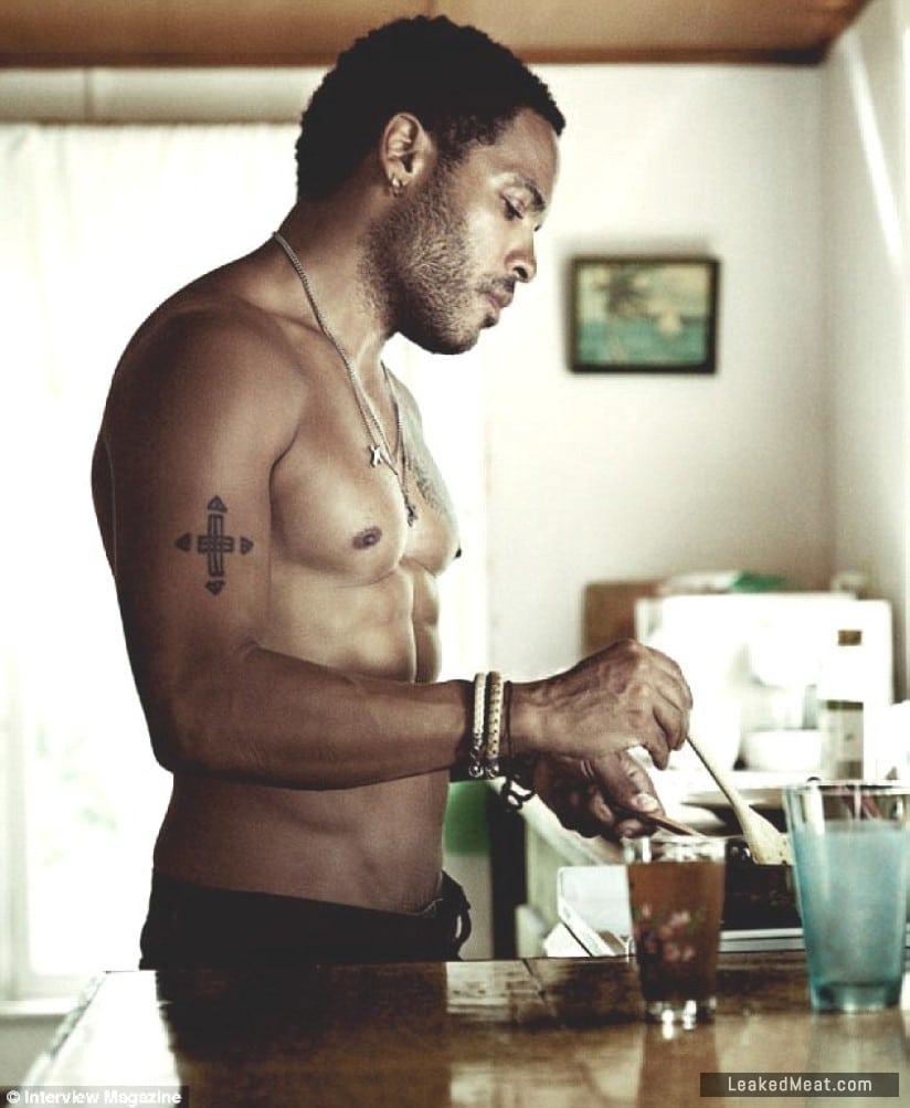 Lenny Kravitz toned body